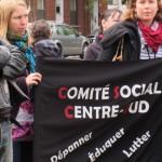 Le Comité Social Centre-Sud à la manif