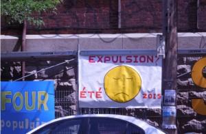 Menacés d'expulsion