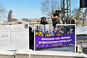 Manifestation à Québec