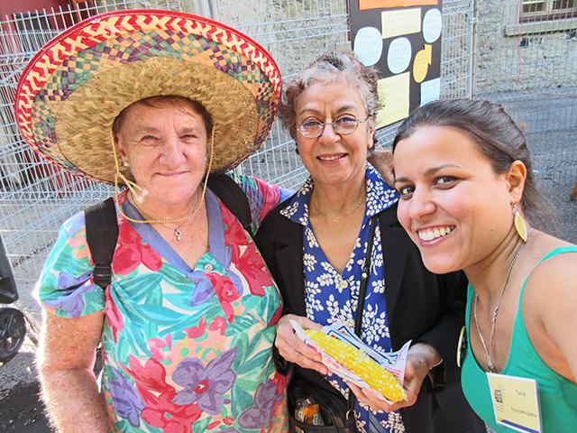 Tania et participantes