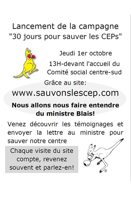Campagne Sauvons les CEPs
