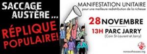 Manifestation 28 novembre