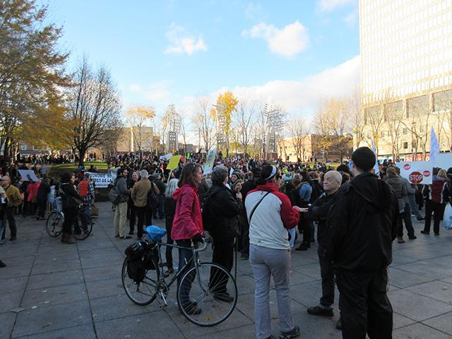 Manifestation au centre-ville